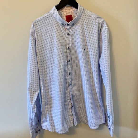 Blue & white / Button Down